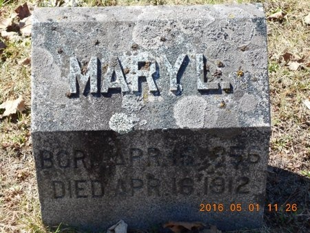 MAAS, MARY L. - Marquette County, Michigan | MARY L. MAAS - Michigan Gravestone Photos