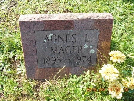 MAGER, AGNES L. - Marquette County, Michigan | AGNES L. MAGER - Michigan Gravestone Photos
