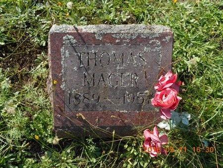 MAGER, THOMAS - Marquette County, Michigan | THOMAS MAGER - Michigan Gravestone Photos