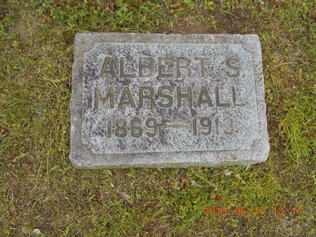 MARSHALL, ALBERT S. - Marquette County, Michigan | ALBERT S. MARSHALL - Michigan Gravestone Photos