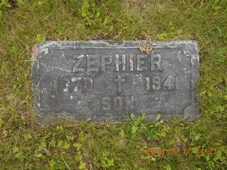 MESSIER, ZEPHIER - Marquette County, Michigan   ZEPHIER MESSIER - Michigan Gravestone Photos