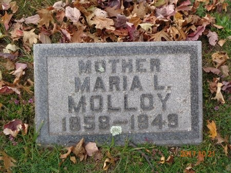 MOLLOY, MARIA L. - Marquette County, Michigan | MARIA L. MOLLOY - Michigan Gravestone Photos