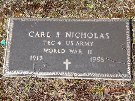 NICHOLAS, CARL S. - Marquette County, Michigan | CARL S. NICHOLAS - Michigan Gravestone Photos