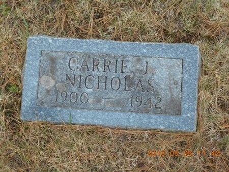 NICHOLAS, CARRIE J. - Marquette County, Michigan | CARRIE J. NICHOLAS - Michigan Gravestone Photos