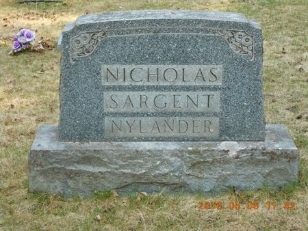 NICHOLAS, FAMILY - Marquette County, Michigan | FAMILY NICHOLAS - Michigan Gravestone Photos
