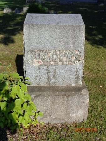 NICHOLAS, FAMILY - Marquette County, Michigan   FAMILY NICHOLAS - Michigan Gravestone Photos