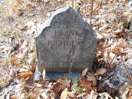 NICHOLAS, FRANK - Marquette County, Michigan | FRANK NICHOLAS - Michigan Gravestone Photos