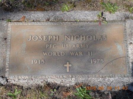NICHOLAS, JOSEPH NICHOLAS - Marquette County, Michigan   JOSEPH NICHOLAS NICHOLAS - Michigan Gravestone Photos