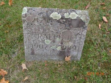NICHOLAS, RALPH B. - Marquette County, Michigan | RALPH B. NICHOLAS - Michigan Gravestone Photos
