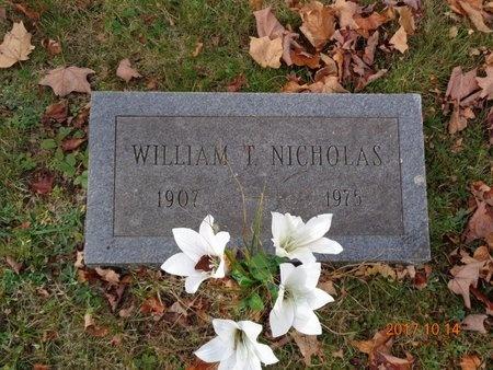 NICHOLAS, WILLIAM T. - Marquette County, Michigan | WILLIAM T. NICHOLAS - Michigan Gravestone Photos