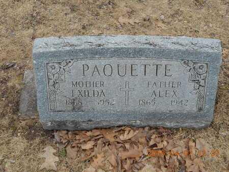 PAQUETTE, ALEX - Marquette County, Michigan | ALEX PAQUETTE - Michigan Gravestone Photos