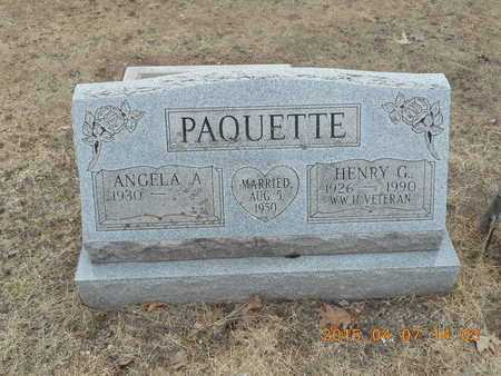 PAQUETTE, HENRY G. - Marquette County, Michigan | HENRY G. PAQUETTE - Michigan Gravestone Photos