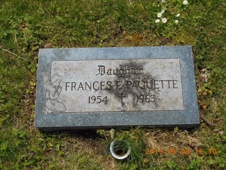 PAQUETTE, FRANCES E. - Marquette County, Michigan | FRANCES E. PAQUETTE - Michigan Gravestone Photos
