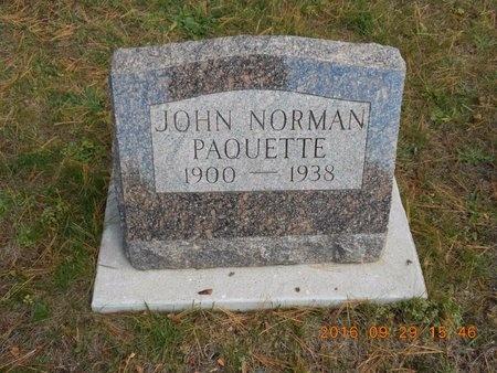 PAQUETTE, JOHN NORMAN - Marquette County, Michigan | JOHN NORMAN PAQUETTE - Michigan Gravestone Photos