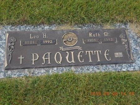 PAQUETTE, RUTH M. - Marquette County, Michigan | RUTH M. PAQUETTE - Michigan Gravestone Photos