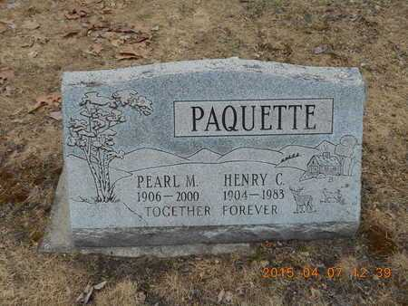 PAQUETTE, HENRY C. - Marquette County, Michigan | HENRY C. PAQUETTE - Michigan Gravestone Photos