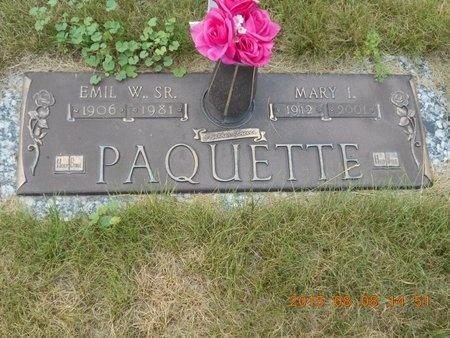 PAQUETTE, MARY I. - Marquette County, Michigan | MARY I. PAQUETTE - Michigan Gravestone Photos