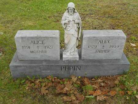 PEPIN, ALICE - Marquette County, Michigan | ALICE PEPIN - Michigan Gravestone Photos