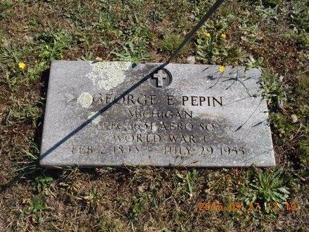 PEPIN, GEORGE E. - Marquette County, Michigan | GEORGE E. PEPIN - Michigan Gravestone Photos
