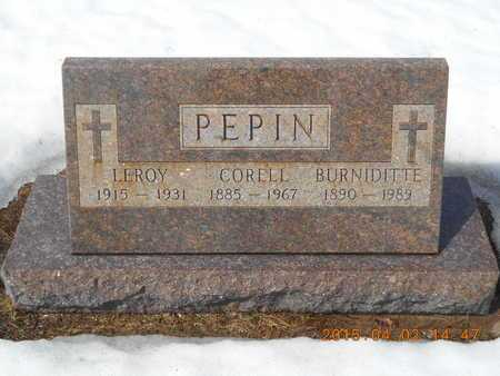 PEPIN, BURNIDITTE - Marquette County, Michigan | BURNIDITTE PEPIN - Michigan Gravestone Photos