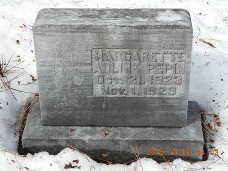 PEPIN, MARGARETTE ADLINE - Marquette County, Michigan | MARGARETTE ADLINE PEPIN - Michigan Gravestone Photos
