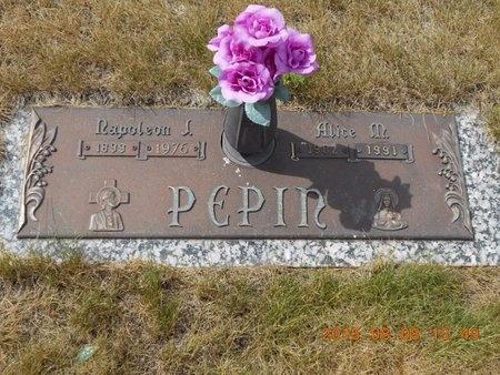 PEPIN, NAPOLEON J. - Marquette County, Michigan | NAPOLEON J. PEPIN - Michigan Gravestone Photos