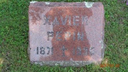 PEPIN, XAVIER - Marquette County, Michigan | XAVIER PEPIN - Michigan Gravestone Photos