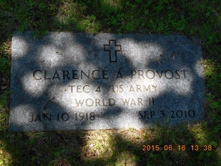 PROVOST, CLARENCE A. - Marquette County, Michigan | CLARENCE A. PROVOST - Michigan Gravestone Photos