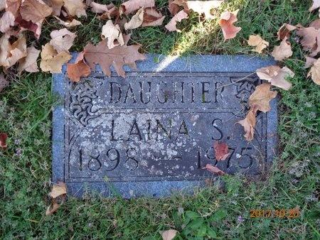 RISKU, LAINA S. - Marquette County, Michigan   LAINA S. RISKU - Michigan Gravestone Photos