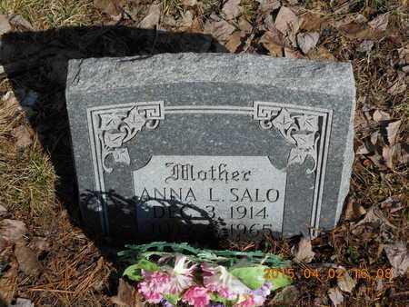 SALO, ANNA L. - Marquette County, Michigan | ANNA L. SALO - Michigan Gravestone Photos