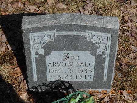 SALO, ARVO M. - Marquette County, Michigan | ARVO M. SALO - Michigan Gravestone Photos