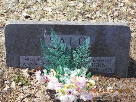 SALO, ANNA H. - Marquette County, Michigan | ANNA H. SALO - Michigan Gravestone Photos