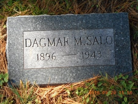 SALO, DAGMAR M. - Marquette County, Michigan | DAGMAR M. SALO - Michigan Gravestone Photos