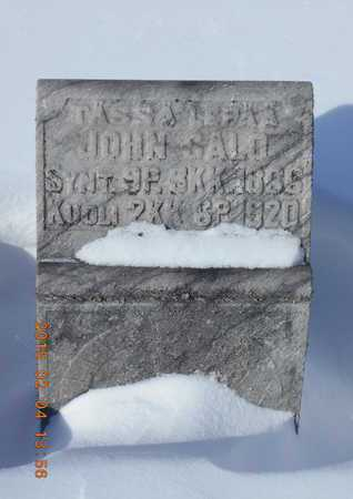 SALO, JOHN - Marquette County, Michigan | JOHN SALO - Michigan Gravestone Photos