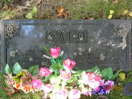SALO, WALTER W. - Marquette County, Michigan | WALTER W. SALO - Michigan Gravestone Photos