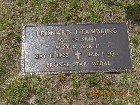 TAMBLING, LEONARD J. - Marquette County, Michigan | LEONARD J. TAMBLING - Michigan Gravestone Photos