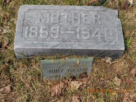THOMAS, EMILY - Marquette County, Michigan | EMILY THOMAS - Michigan Gravestone Photos