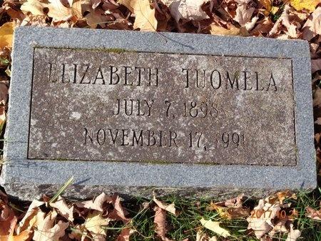 TUOMELA, ELIZABETH - Marquette County, Michigan | ELIZABETH TUOMELA - Michigan Gravestone Photos