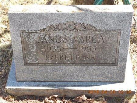 VARGA, JANOS - Marquette County, Michigan | JANOS VARGA - Michigan Gravestone Photos