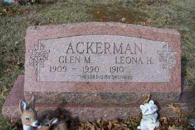 ACKERMAN, GLEN M - Mecosta County, Michigan | GLEN M ACKERMAN - Michigan Gravestone Photos
