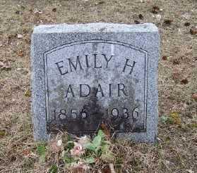 ADAIR, EMILY H. - Mecosta County, Michigan   EMILY H. ADAIR - Michigan Gravestone Photos