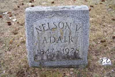 ADAIR, NELSON V. - Mecosta County, Michigan | NELSON V. ADAIR - Michigan Gravestone Photos