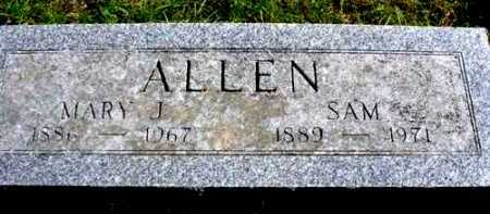 ALLEN, MARY J. - Mecosta County, Michigan | MARY J. ALLEN - Michigan Gravestone Photos