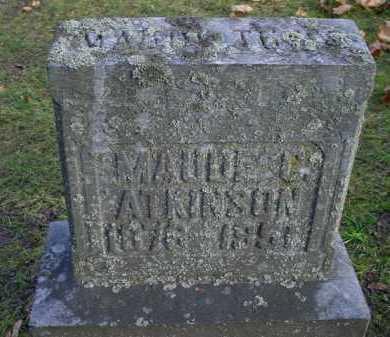 ATKINSON, MAUDE - Mecosta County, Michigan   MAUDE ATKINSON - Michigan Gravestone Photos