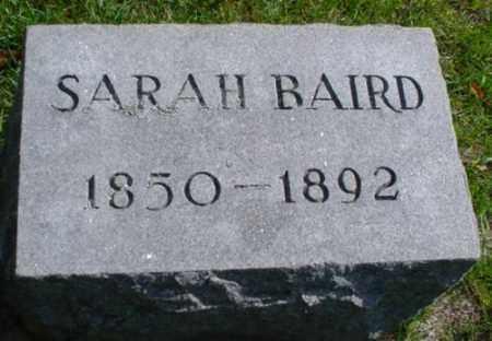 BAIRD, SARAH - Mecosta County, Michigan | SARAH BAIRD - Michigan Gravestone Photos