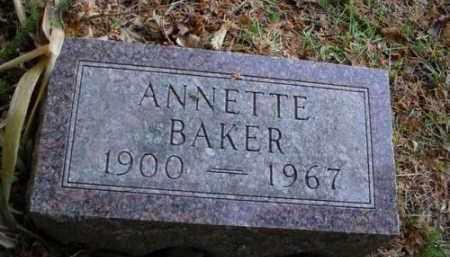 BAKER, ANNETTE - Mecosta County, Michigan | ANNETTE BAKER - Michigan Gravestone Photos