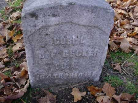 BECKER, ? F. - Mecosta County, Michigan   ? F. BECKER - Michigan Gravestone Photos
