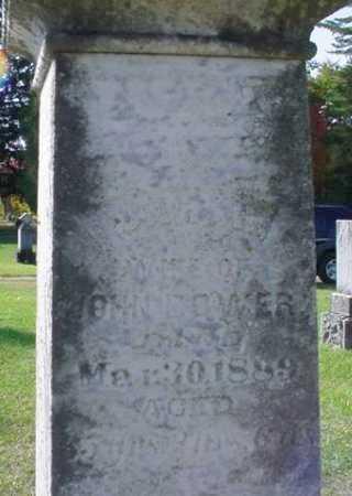 BOWER, SARAH - Mecosta County, Michigan | SARAH BOWER - Michigan Gravestone Photos
