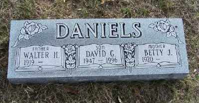 DANIELS, WALTER H. - Mecosta County, Michigan | WALTER H. DANIELS - Michigan Gravestone Photos