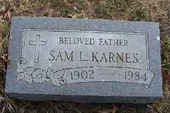 KARNES, SAMUEL L. - Mecosta County, Michigan   SAMUEL L. KARNES - Michigan Gravestone Photos